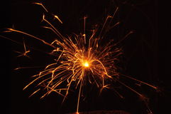 Fireworks. Little sparks in the night. Hot sparks Stock Photo