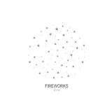 Fireworks logo icon. Celebration concept. Stock Images