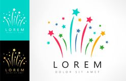 Fireworks logo vector. Logo design vector illustration Royalty Free Stock Photography