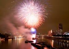 fireworks london Στοκ εικόνα με δικαίωμα ελεύθερης χρήσης