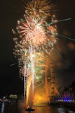Fireworks at London eye Royalty Free Stock Images