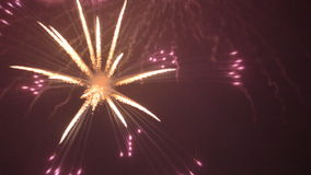 Fireworks Looped Video stock video footage