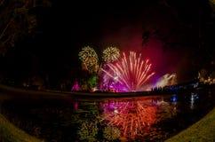 Fireworks in Loy Krathong. Stock Images