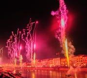 Fireworks during the Luminara Festival stock photo