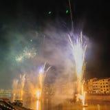 Fireworks during the Luminara Festival Stock Image