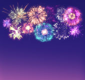 Fireworks Magical Display Royalty Free Stock Image