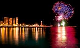 Fireworks in Malaga Royalty Free Stock Photos