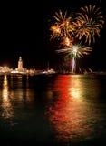 Fireworks in Malaga Royalty Free Stock Photo