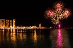 Fireworks in Malaga Stock Photos