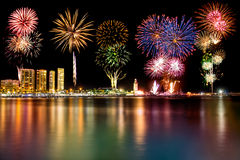 Fireworks in Malaga Stock Photography