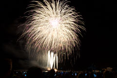 Fireworks in Mallorca Royalty Free Stock Images