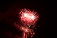 Fireworks in Mallorca Royalty Free Stock Photography