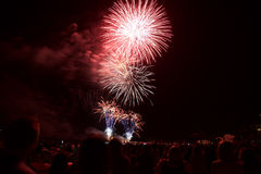 Fireworks in Mallorca Stock Photography