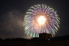 Zurrieq 2014 Fireworks stock images