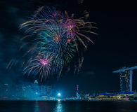 Fireworks/ Marina Bay /Lunar New Year/New Year Stock Photography