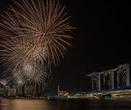 Fireworks/Marina zatoki /Lunar nowy rok/nowy rok Obraz Royalty Free