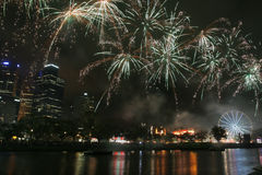 Fireworks in melbourne Stock Photography