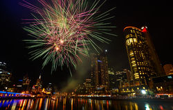 Fireworks in Melbourne Royalty Free Stock Images