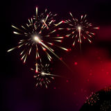 Fireworks. Milky way stars. Stars of a planet and galaxy in a fr Royalty Free Stock Image