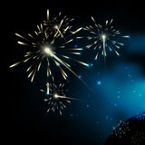 Fireworks. Milky way stars. Stars of a planet and galaxy in a fr royalty free illustration
