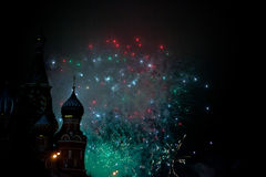 Fireworks in Moscow Stock Image