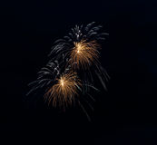 Fireworks in the Moscow sky Stock Image