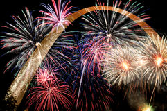 Fireworks of multiple colors Stock Photography