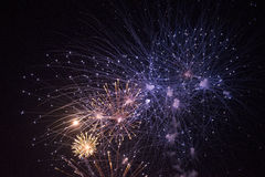 Fireworks. Multiple fireworks in the sky of different colors Stock Photography