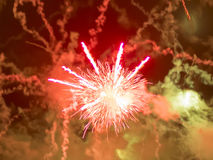 Fireworks on National Day, black background Royalty Free Stock Photo