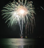 Fireworks Navy Pier Royalty Free Stock Photo
