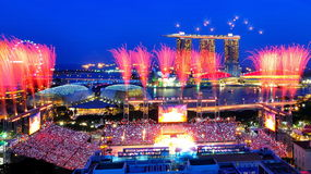 Fireworks during NDP 2010 Royalty Free Stock Photo