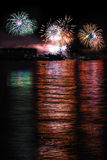 Fireworks in Neuchatel  Stock Photos