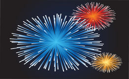 Fireworks. A new colored fireworks illustration Stock Image