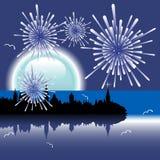 fireworks new year Στοκ Φωτογραφία