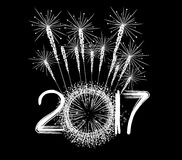 Fireworks for new year 2017 Royalty Free Stock Images