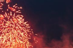 Fireworks at New Year Royalty Free Stock Image