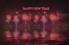 Fireworks New Year Celebration Stock Photo