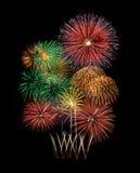 Fireworks new year celebration Stock Photography