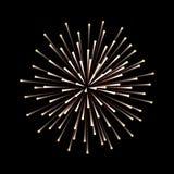 Fireworks. New Year celebration. Festive night decoration, design element. Vector isolated illustration on black. Fireworks. New Year celebration. Festive night Royalty Free Stock Image