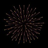Fireworks. New Year celebration. Festive night decoration, design element. Vector isolated illustration on black. Fireworks. New Year celebration. Festive night Stock Image