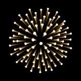 Fireworks. New Year celebration. Festive night decoration, design element. Vector isolated illustration on black. Fireworks. New Year celebration. Festive night Royalty Free Stock Photos