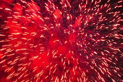 Fireworks at New Year. Celebration Fireworks at New Year Royalty Free Stock Photography