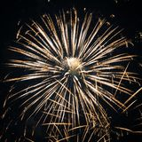 Fireworks at New Year Royalty Free Stock Photo