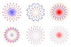 Fireworks. New year celebration illustration stock illustration