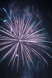 Fireworks during the new year celebrations Stock Photo