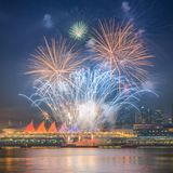 Fireworks for new year 2018 celebrations Stock Images