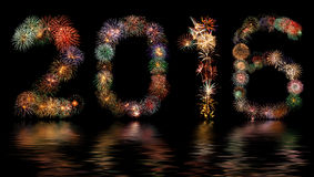 Fireworks New Year 2016 Royalty Free Stock Images