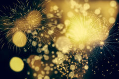 Fireworks at New Year and copy space Royalty Free Stock Photo