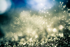 fireworks at New Year and copy space Royalty Free Stock Photography