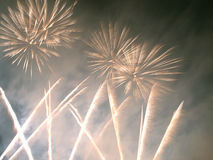Fireworks on New Year. Royalty Free Stock Photo